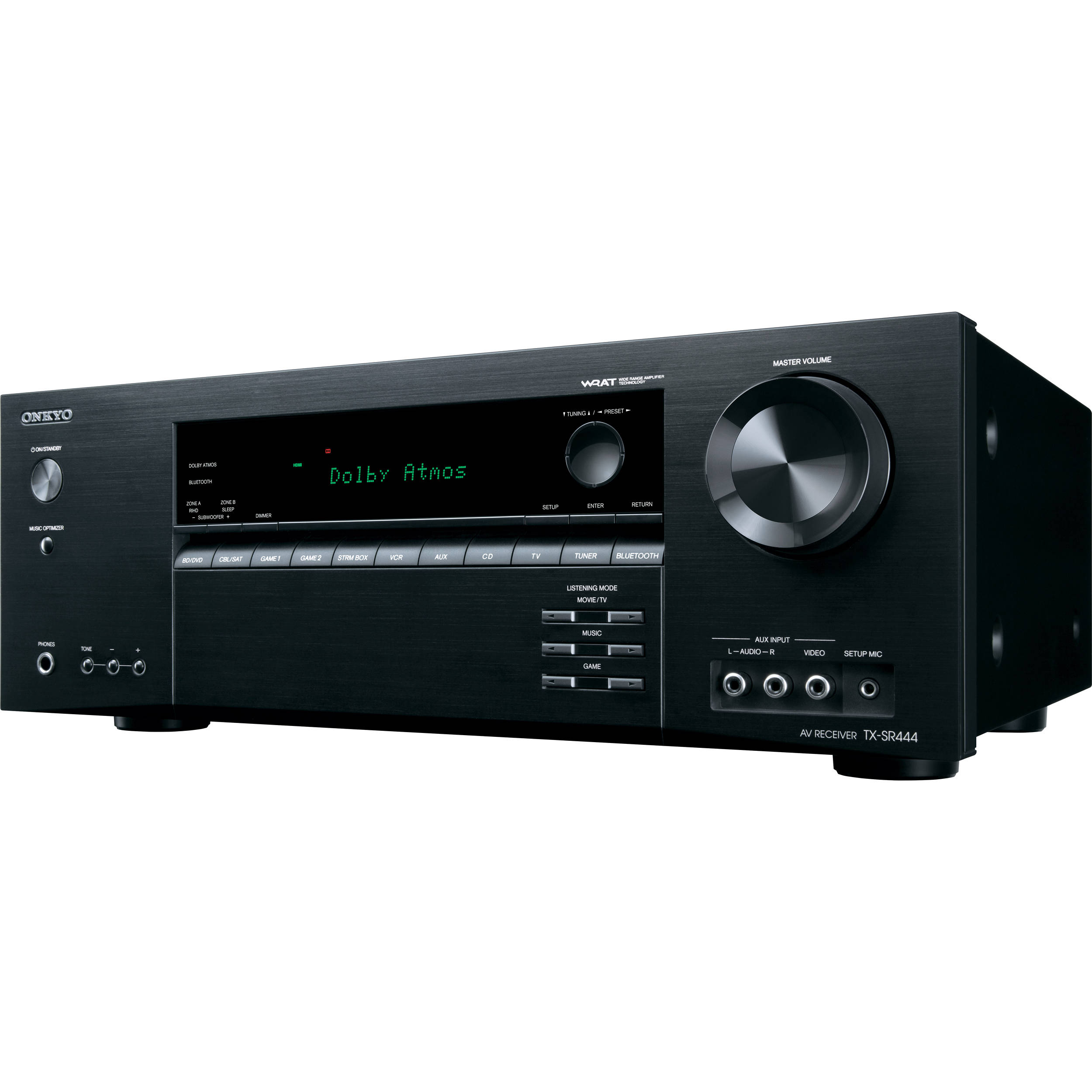 Onkyo, TX-SR444, 7.1, Channel, AV, Receiver, with, Dolby, Atmos, Bluetooth, 3D, 4K, UltraHD,