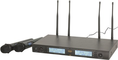 2, Channel, Dual, Diversity, UHF, Microphone,