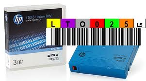 Custom, bar, code, labels, supplied, and, applied, to, purchased, HP/Sony, tapes, (per, label),