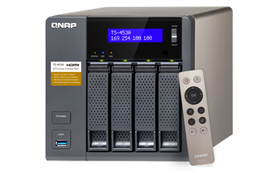 QNAP, TS-453A-4G, 4-Bay, Network, Attached, Storage, Intel, Celeron, Braswell, N3150, quad-core, 1.6GHz, (up, to, 2.08GHz), 4GB, DDR3L,