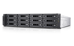 QNAP, 12-Bay, TurboNAS, E3-1246V3, processor, 4GB, RAM, 4-LAN, 2, *, 10Gb, ports, no, disks, (TS-EC1280U-E3-4GE-R2),