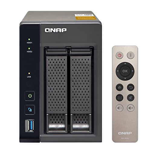 QNAP, TS-253A-4G, 2-Bay, Network, Attached, Storage, Intel, Celeron, Braswell, N3150, quad-core, 1.6GHz, (up, to, 2.08GHz), 4GB, DDR3L,