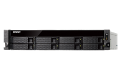 QNAP, TS-831XU-4G, 8-Bay, quad-core, 1.7, GHz, rackmount, Network, Attached, Storage, with, 240W, PSU, 4GB, DDR3, SODIMM, RAM, (max, 16GB,