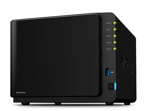 Synology, DS416Play, DiskStation, 4-Bay, Network, Attached, Storage,