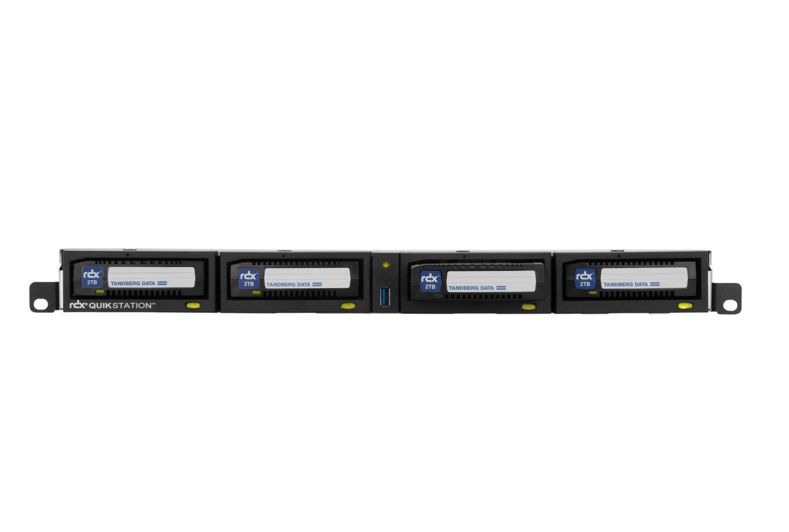 RDX, QuikStation, 4, RM, 4-Bay, 2x, 1Gb, Ethernet, Removable, RDX, Array, 1U, Rackmount, (no, media, included),