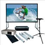 Sony, 5000, Lumen, Laser, Projector, plus, 4m, (186, ), Portable, Fast-Fold, Projector, Screen,