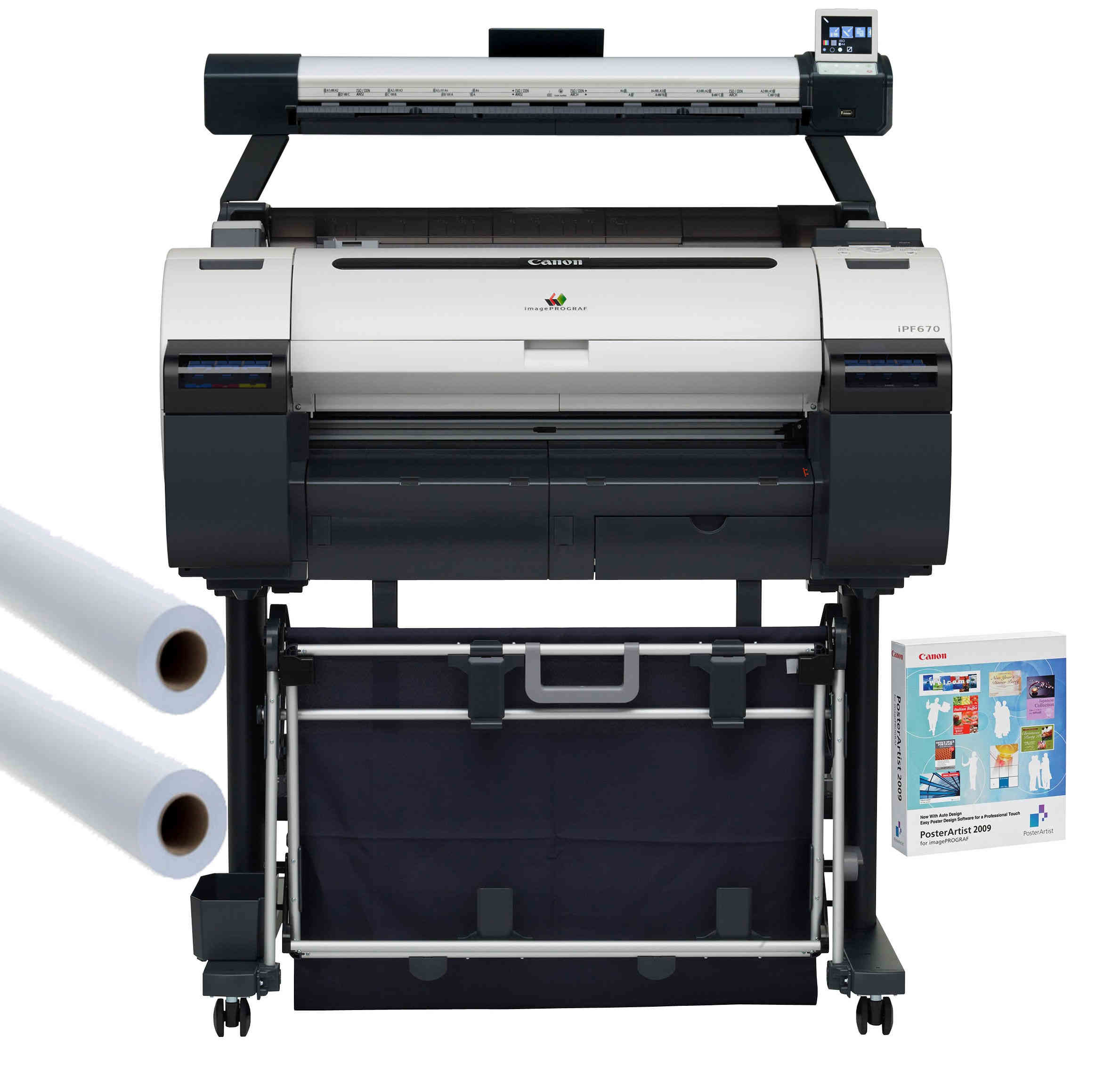 Large Format - A1/Canon: Canon, IPF685, A1, 24, 5, Colour, Technical, Printer, -, 3YR, OSS, Bundle,