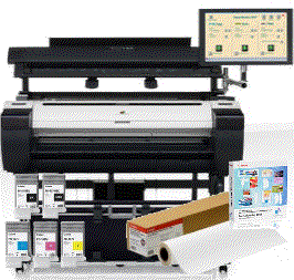 Large Format - MFP/Canon: Canon, iPF770MFP, 36, A0, Printer, with, 40, Scanner, PC-Touchscreen, +, BONUS,