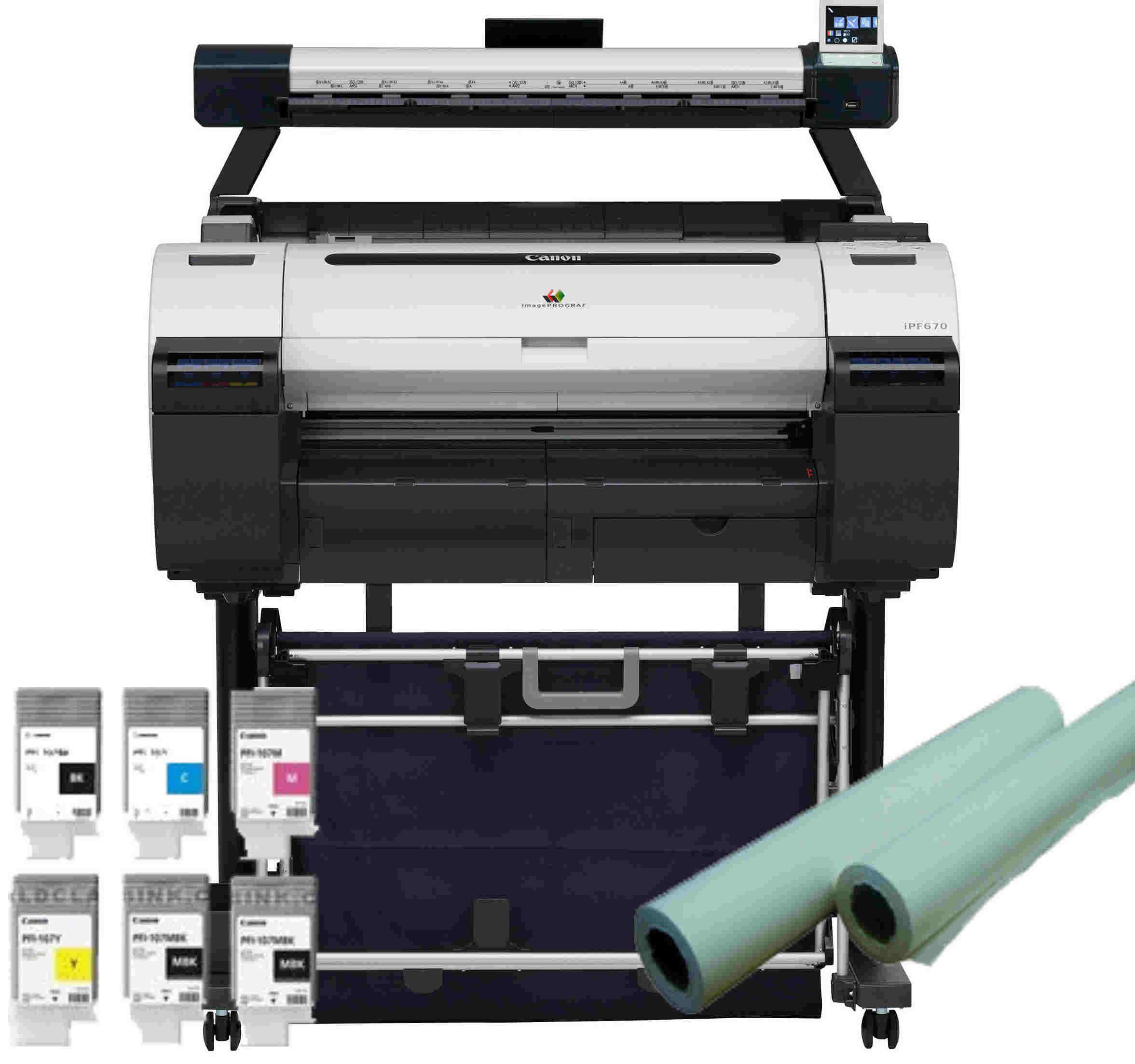 Large Format - MFP/Canon: Canon, iPF670MFP-L, 24, A1, CAD, Printer/Scanner/Copier, +, BONUS,