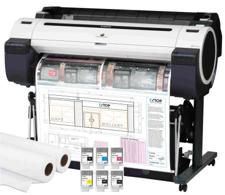 Large Format - A0/Canon: Canon, IPF770, 36, A0, 5, Colour, CAD, Printer, plus, Bonus, INK/PAPER,