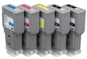 Ink Cartridges/Canon: , CANON, 5, x, 300ML, PFI-207, INK, BUNDLE, FOR, IPF680, iPF780,