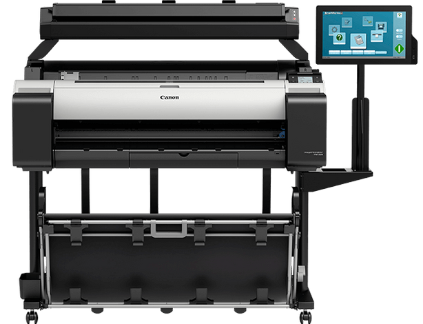 A0 Wide Format/Canon: Canon, iPF, TM-305, 36, A0, 5, Colour, Printer, with, Scanner, AIO, and, Stand,