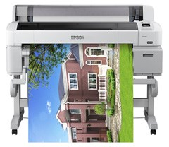 Epson, SureColor, T5200, Dual, Roll, A0, 36, 5-ink, Postscript, Large, Format, Printer/Scanner,