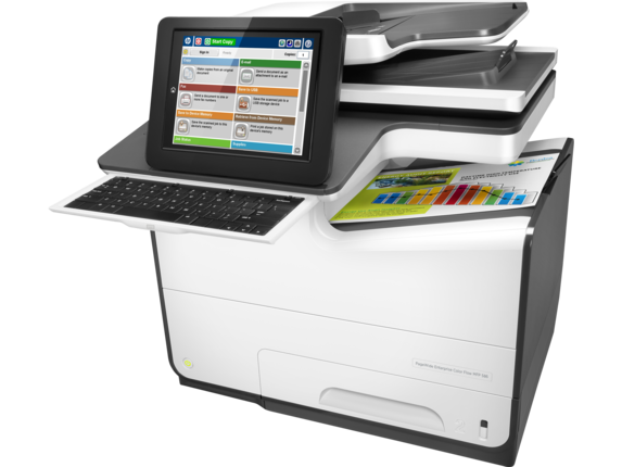 HP, Pagewide, 586Z, Enterprise, 50ppm, Colour, Inkjet, Multifunction, Printer,