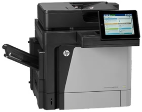 HP, LaserJet, Enterprise, MFP, M630h, 60ppm, Mono, A4, Printer,