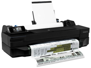 Large Format - A1/Hewlett-Packard: HP, Designjet, T120, 24-in, 610mm, 4, Ink, WiFi, ePrinter, plus, INK/PAPER,