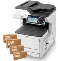 OKI, MC853dn, A3, 23ppm, Colour, Duplex, Laser, MFP, +, Bonus,