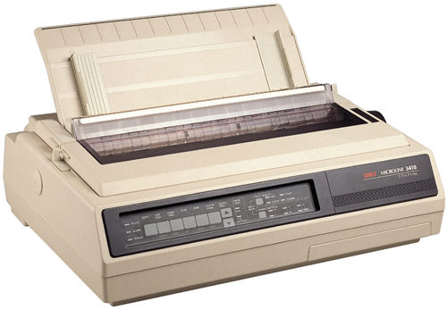 OKI, 3410, 136, Column, Dot, Matrix, Printer,