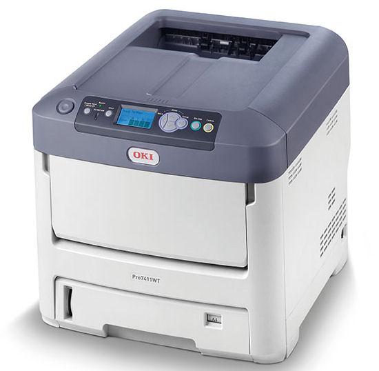 OKI, Pro7411WT, Colour, A4, 34ppm, 630, sheet, Laser, Printer, with, White, toner),