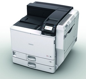 Ricoh, Aficio, SP, C830DN, 45ppm, A3, Colour, Laser, Printer, 2, X, 550, SHT, Trays,