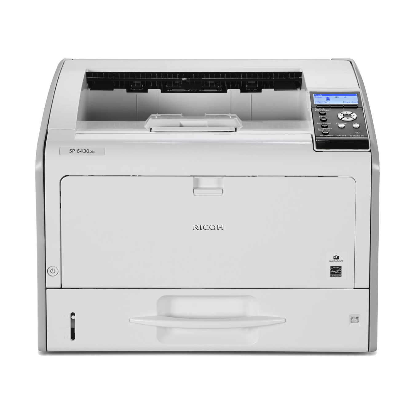 Ricoh, SP, 6430DN, A3, 38ppm, Mono, Laser, Printer, 500SHT, Feeder, 1200DPI,