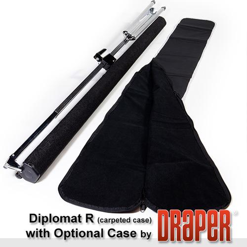 Draper, Heavy, Duty, Tripod, Carpeted, Diplomat/R, 1:1, 244, x, 244, AV, Matt, White,