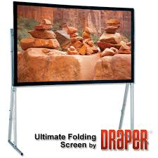 Draper, Ultimate, Folding, Screen, 5.5m, wide, 16:9, format, Matt, White, XT1000V, surface,