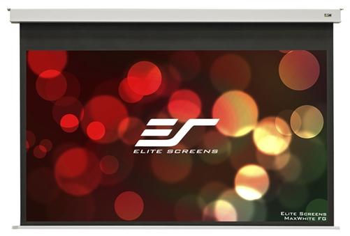Elite, Screens100, Motorised, 16:9, Recesswd, Screen, IR, &, RF, Control, White, 12V, Trigger, Evanesce, B,