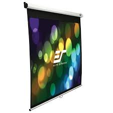 Elite, Screens, M71XWS1, 71, (1.27m, wide), Square, Manual, Pull, Down, Screen, with, WHITE, casing,