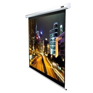 Elite, VMAX110XWX2, White, 110, (2.37m, wide), 16:10, Electric, Projector, Screen, with, white, case, and, Maxwhite, vinyl, surface,