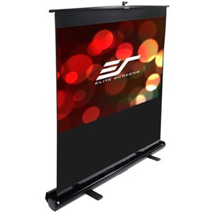 Elite, Screens, 95, PORTABLE, 16:10, PULL-UP, PROJECTOR, SCREEN, FLOOR, PULL, UP, SWIVEL, LEGS, EZCINEMA,