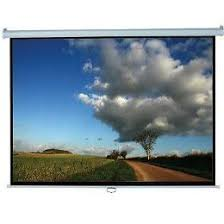 Elite, Screens, 100, (2.2m, wide), 16:9, Manual, Pull, Down, Screen, with, WHITE, case,