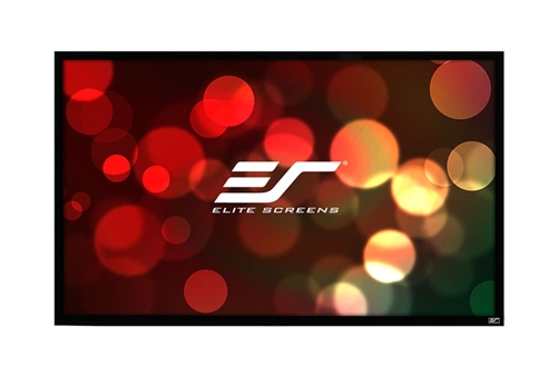 Elite, Screens, 135, Fixed, Frame, 16:9, Screen, 1080P, /, FHD, Weave, Acoustically, Transparent, -, EZFrame,