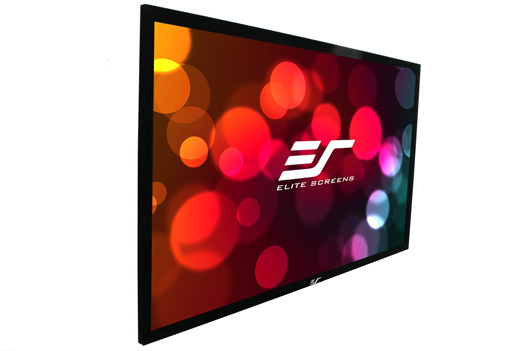 Elite, Screens, 100, Fixed, Frame, 16:9, Silver, Projector, Screen, Polarized, 2D/3D, -, Sable, Frame, 3D,