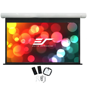 Elite, Saker, Series, 200, (4.3m, wide), 16:10, Electric, Projector, Screen, with, white, case, and, Maxwhite, fiberglass, surface,