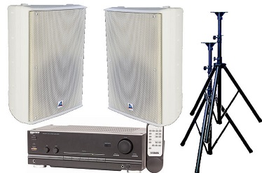 Audio, bundle, -, 200W, Stereo, Speaker, System, -, Indoor, White,