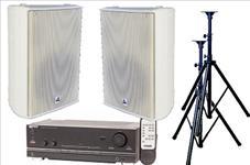 Audio, bundle, -, 200W, Stereo, Speaker, System, -, Indoor, White,