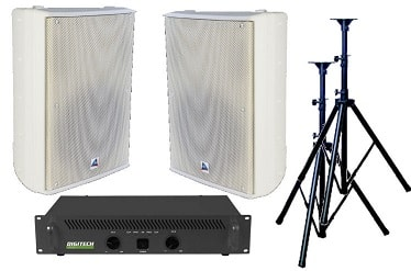 Audio, bundle, -, 400W, Stereo, Speaker, System, -, Indoor, White,