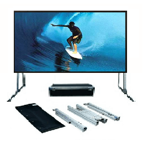 SG, Audio, Visual, FF, Series, 3m, wide, (135, ), Portable, Fast-Fold, Projector, Screen, with, Front, Projection, Surface, (16:10),