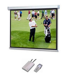 SG, Professional, A, Series, Electric, Screen, 108, 16:9, format, (2.4m, *, 1.35m), with, white, case, and, fiberglass, surface,