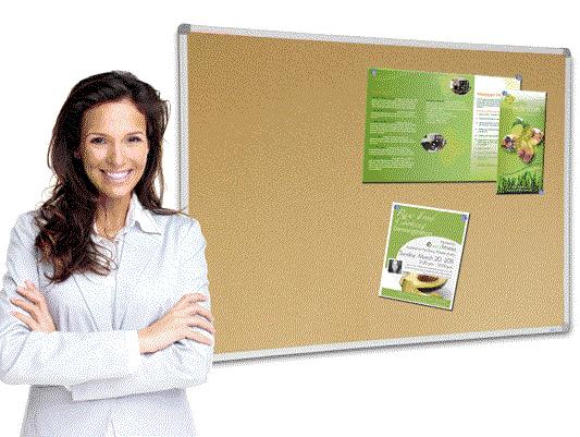 Visionchart, Cork, Board, Aluminium, Frame, 900, x, 600mm,