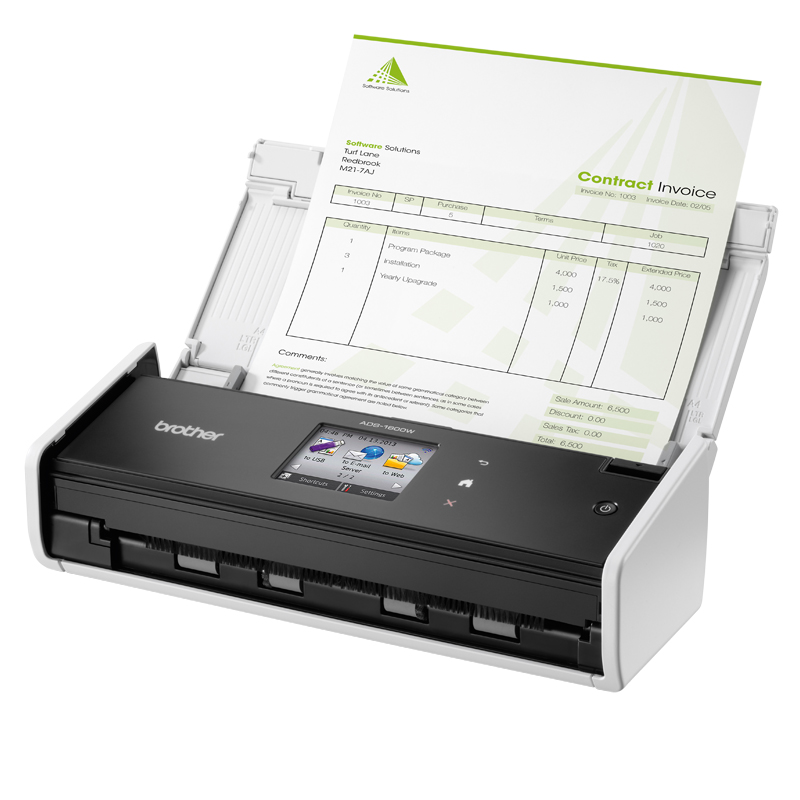 A4/Brother: Brother, ADS-1600W, COMPACT, DOCUMENT, SCANNER, WITH, WIFI,