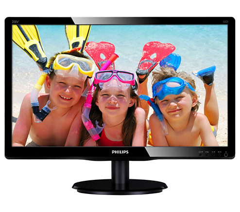 Philips, 200V4QSBR, 19.5in, Monitor, LED, images, in, vivid, colors,