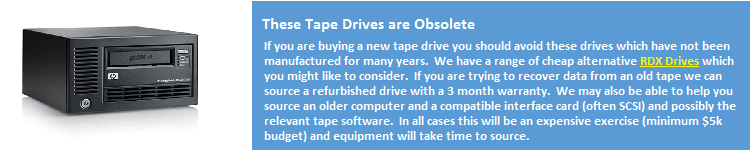 Obsolete Tape drives