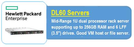 HPE DL 60 Servers