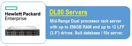 HPE DL 80 Servers