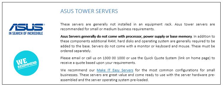 ASUS Tower Servers