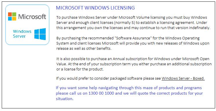 Microsoft Windows Licensing