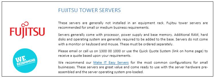 Fujitsu Tower Servers
