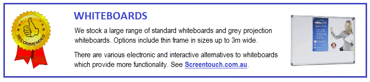 All of the brands we carry are quality products. Consider the SG Audio Visual or Visionchart whiteboards